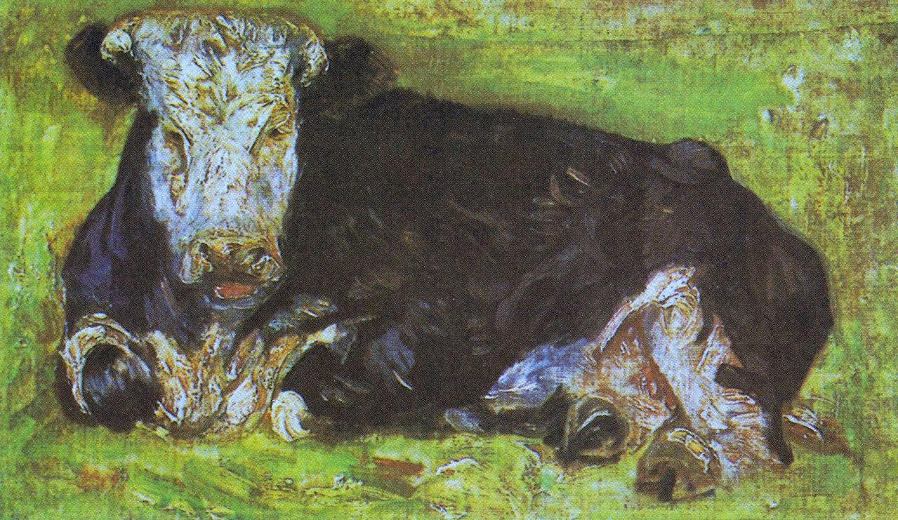 Lying cow 1883 xx private collection